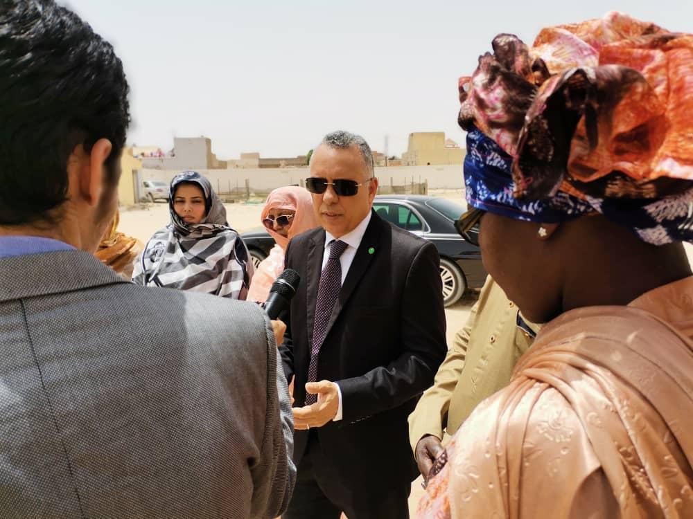رئيس اللجنة الوطنية لحقوق الإنسان يزور سجن النساء بانواكشوط